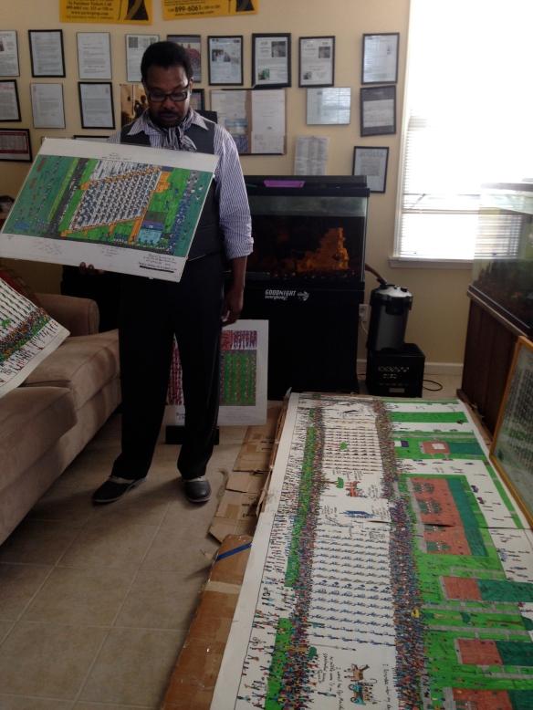 Bruce Davenport in his home/studio