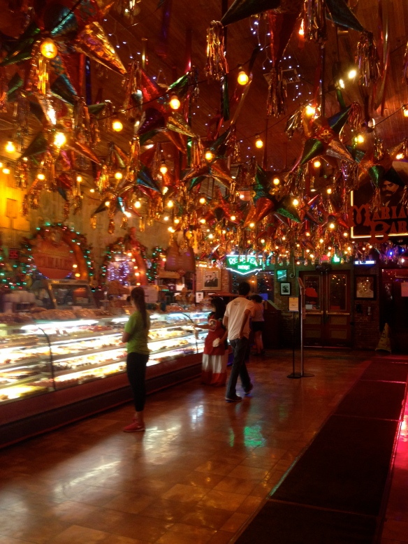 Midnight at the 24 hour Mexican themed restaurant