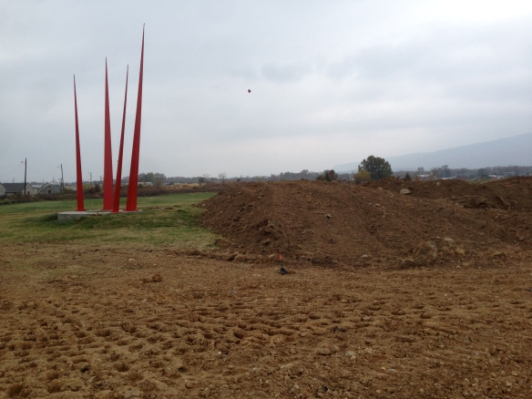 topsoil waiting to be spread