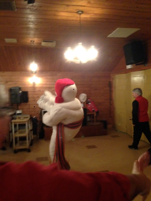 Bonhomme doing his signature move