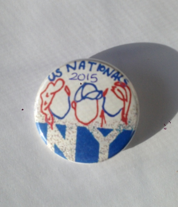 We made buttons to hand out to other teams and sponsors